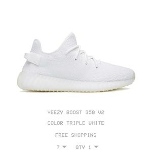 Brand new Yeezy's in the color triple white!!!